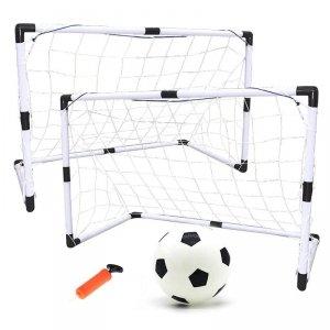 Bramki piłkarskie dla dzieci 2w1 (2szt-92x65x40cm/1szt-180x120x60) + piłka + pompka