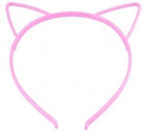 Opaska do włosów z uszami różowa