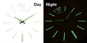 Zegar ścienny fluorescencyjny 50-60cm paski