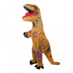 Kostium strój dmuchany dinozaur T-REX Gigant brązowy 1.5-1.9m