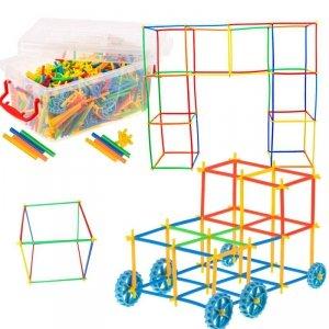 Słomki do budowania klocki konstrukcyjne BOX 494el