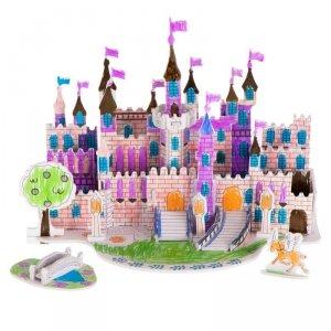 Puzzle 3D kolorowanka zamek 38el.