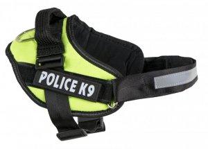 Szelki dla psa mocne M 55-66cm Police K9 zielone