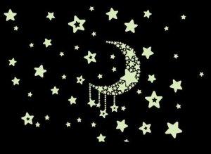 Naklejki ścienne - gwiazdy fosforescencyjne