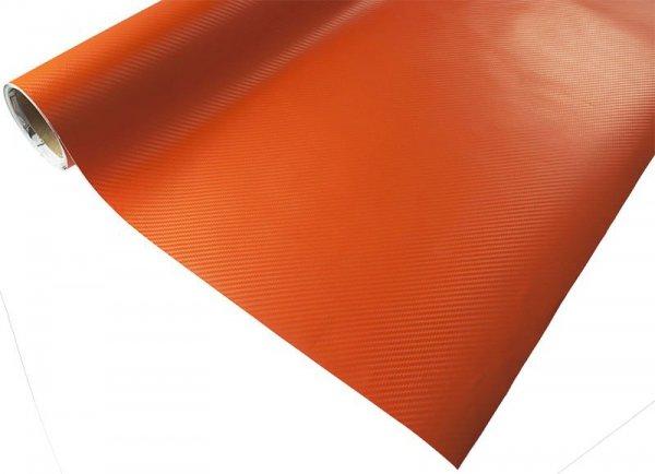 Folia rolka carbon 3D pomarańcz 1,27x28m