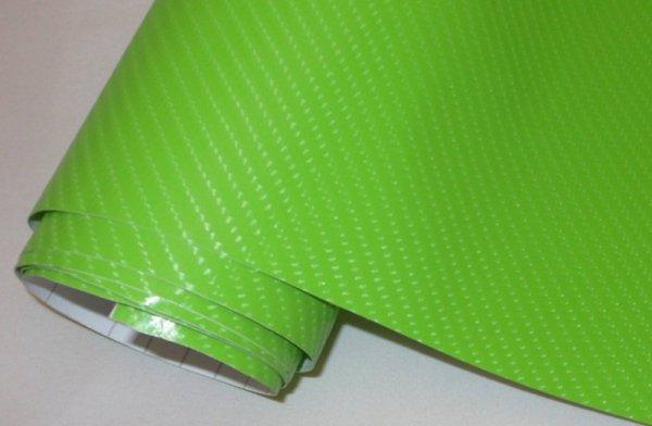 Folia rolka carbon 4D zielona 1,52x30m