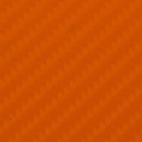 Folia odcinek carbon 4D pomarańczowa 1,52x0,1m