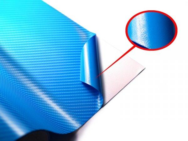 Folia odcinek carbon 4D błękitna 1,52x0,1m