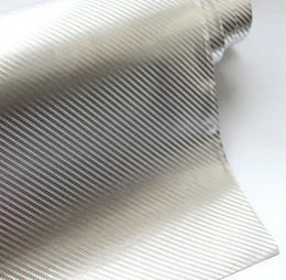 Folia rolka carbon 5D srebrna 1,52x18m
