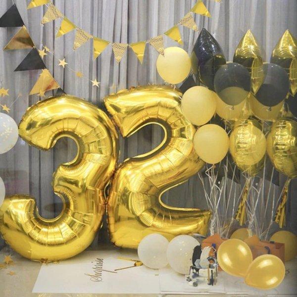 Balon urodzinowy na hel cyfry -0- 40cm