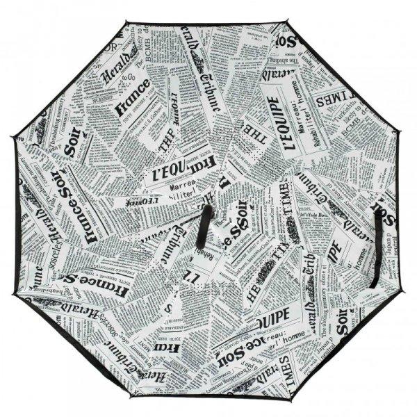 Parasol odwrotnie otwierany składany gazeta