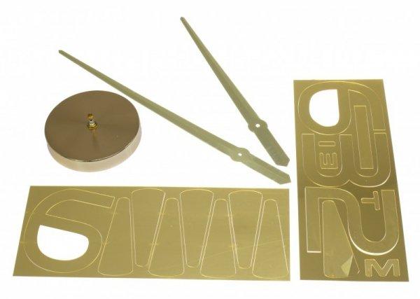 Zegar ścienny duży 80-120cm złoty 4 cyfry