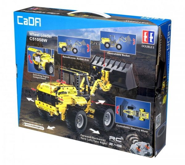Koparka ładowarka RC klocki CADA C51058W