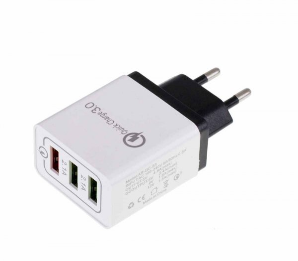 Ładowarka do telefonu adapter 3x USB Quick Charge