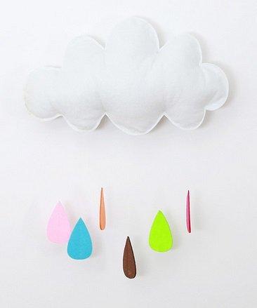 Zawieszka dekoracyjna chmurka kolorowe kropelki