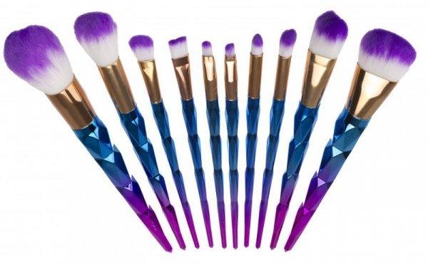 Pędzle do makijażu 10sztuk brylantowe