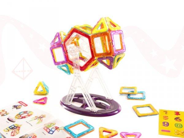 Klocki magnetyczne kolorowe  MAGICAL MAGNET 52SZT