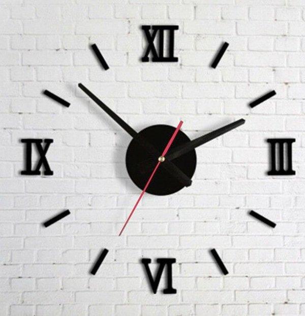 Zegar Ścienny czarny cyfry rzymskie