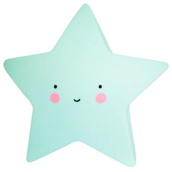 Lampka nocna gwiazda duża błękitna CUTE
