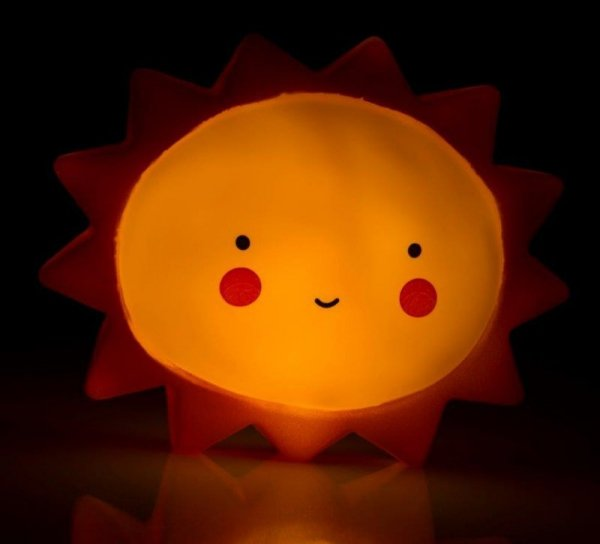 Lampka nocna słonko żółta CUTE