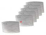5 podwójnych filtrów PM2.5 + 1 gratis (do maski bawełnianej dla dorosłych)