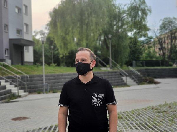 maska przeciwsmogowa do biegania na rower z filtrem n99