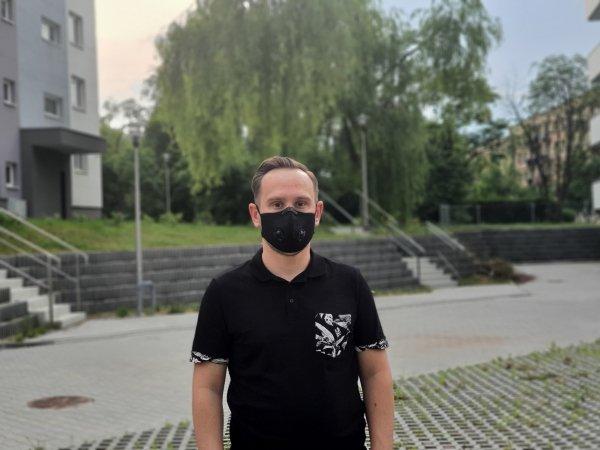 maska do biegania active 2.0 z filtrem hepa