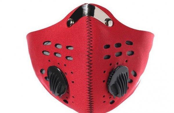 Maska do biegania neoprenowa BASIC czerwona