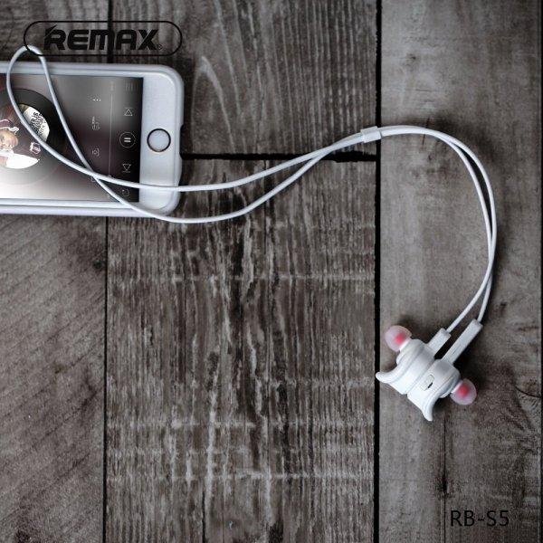 Słuchawki magnetyczne Bluetooth Remax czarne
