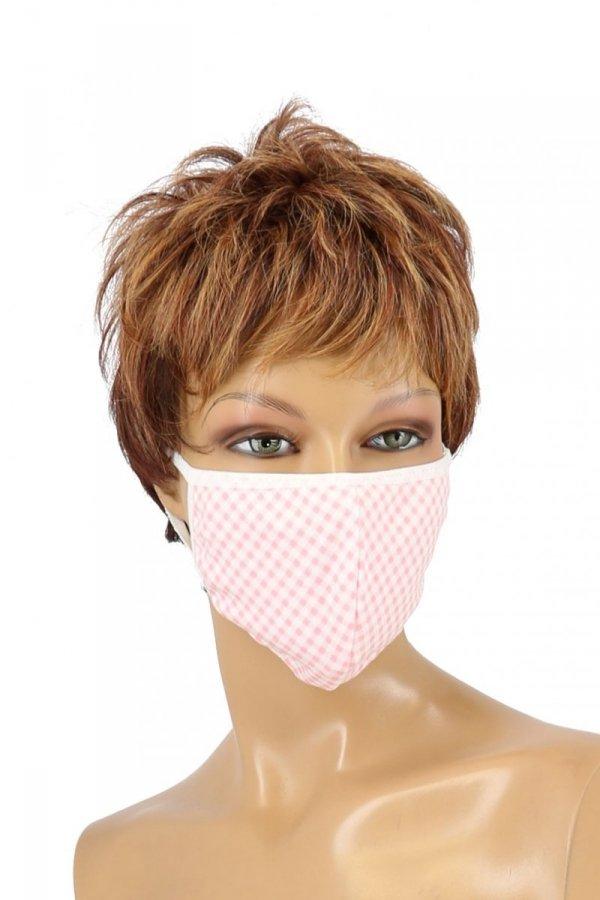 maska ochronna na twarz z filtrem różowa