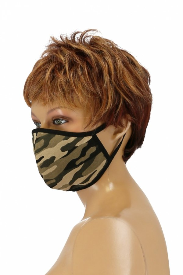 maska z kieszonką na filtr moro