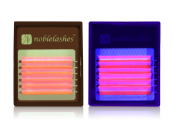 Fluoreszierende Wimpern ROSA MIX B 0,07