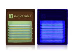 Fluoreszierende Wimpern BLAU MIX B 0,07