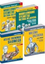 Delavier komplet dla mężczyzn Atlas treningu + Mięśnie brzucha + Modelowanie sylwetki tom 1 + Modelowanie sylwetki tom 2