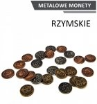 Metalowe Monety - Rzymskie (zestaw 24 monet)