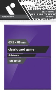 Koszulki na karty Rebel (63,5x88 mm) Classic Card Game, 100 sztuk, Fioletowe