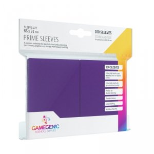 Gamegenic: Prime CCG Sleeves (66x91 mm) - Purple, 100 sztuk