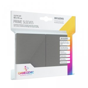 Gamegenic: Prime CCG Sleeves (66x91 mm) - Dark Gray, 100 sztuk