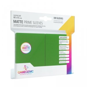 Gamegenic: Matte Prime CCG Sleeves (66x91 mm) - Green, 100 sztuk