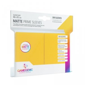 Gamegenic: Matte Prime CCG Sleeves (66x91 mm) - Yellow, 100 sztuk