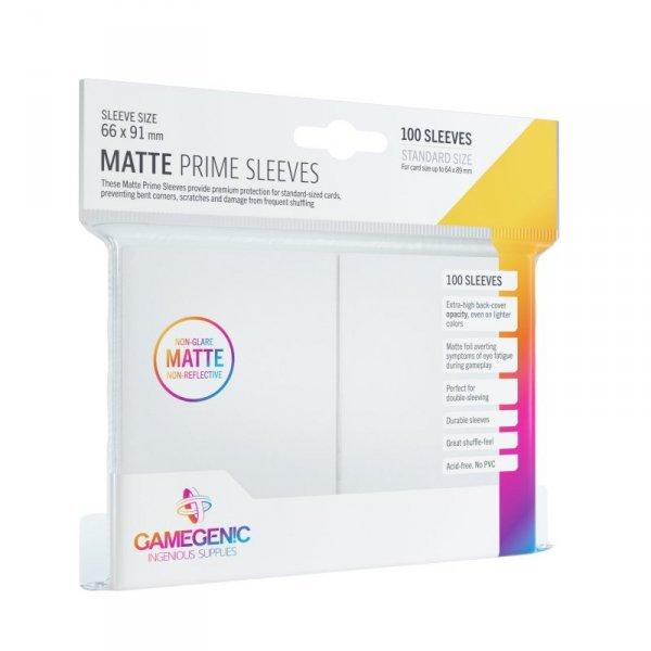 Gamegenic: Matte Prime CCG Sleeves (66x91 mm) - White, 100 sztuk