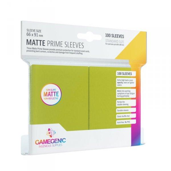 Gamegenic: Matte Prime CCG Sleeves (66x91 mm) - Lime, 100 sztuk