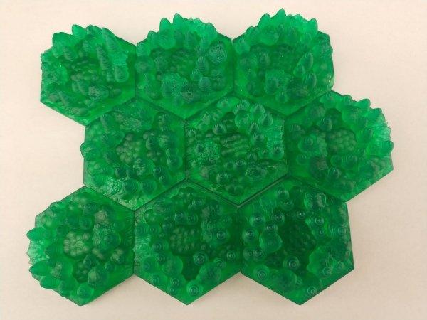 Terraformacja Marsa - kafelki lasów 3D