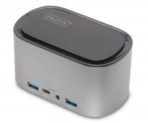 Stacja dokująca DIGITUS USB Typ C 11 portów Triple Monitor 4K 60Hz PD 3.0 M.2 SATA 3.0 NGFF aluminiowa