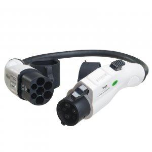 Kabel adapter do ładowania samochodów elektrycznych Akyga AK-EC-04 Type1 / Type2 32A 0.5m