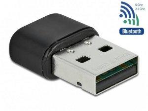 Karta sieciowa bezprzewodowa Delock USB AC-433 Dual Band 2.4/5GHz wewnętrzne anteny z Bluetooth 4.2