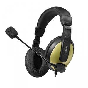 Słuchawki z mikrofonem LogiLink HS0011A multimedia, stereo