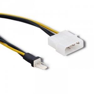 Adapter Qoltec do wentylatora Molex / 3 pin | 0.18m
