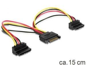 Kabel Delock SATA zasilający SATA(M) ->SATA(F)x2 0,15m