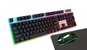 Zestaw przewodowy Vakoss KS-2454 klawiatura + myszka + podkładka Gaming